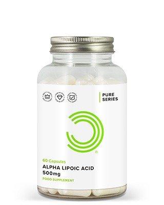 BULK POWDERS™ Alpha Liponsäure Kapseln enthalten ganze 500 mg der reinsten erhältlichen Alpha Liponsäure (ALA).Alpha Liponsäure ist eine Fettsäure