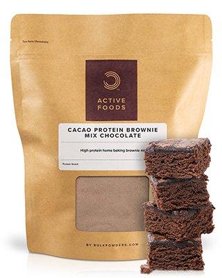 Der Protein Brownie Mix aus unserer ACTIVE FOODS-Serie enthält eine einzigartige Mischung nährstoffreicher Zutaten