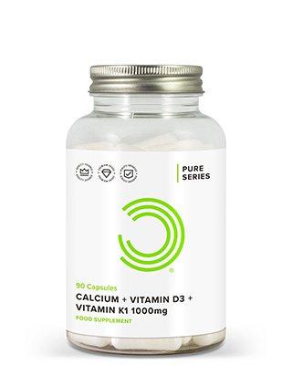 In BULK POWDERS™ Kalzium + Vitamin D3 + Vitamin K1-Kapseln verbinden sich diese 3 wichtigen Vitamine und Mineralstoffe zu einem marktführenden Präparat für Knochengesundheit.Diese 3 sind nicht bloß die wirksamsten Nährstoffe für gesunde Knochen