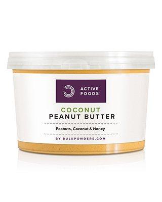 WAS IST ERDNUSSBUTTER MIT KOKOS?Die ACTIVE FOODS™ Erdnussbutter mit Honig ist eine schmackhafte Nusscreme aus feinsten