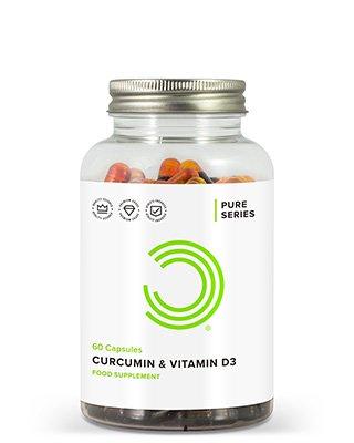 WAS SIND KURKUMA & VITAMIN D3 KAPSELN?BULK POWDERS® Kurkuma & Vitamin D3 Kapseln bieten dir eine effektive Kombination aus Kurkuma Extrakt und Vitamin D3 in Kapselform. Jeder Kapsel enthält 30mg des patentierten NovaSOL® Kurkuma Extraktes und ganze 5.4µg von Vitamin D3 in der höchsten