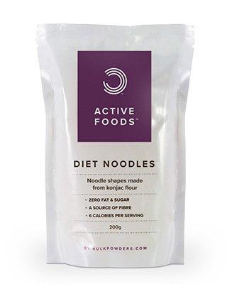 Was sind Diät Nudeln?BULK POWDERS™ Diät Nudeln (auch Konjaknudeln oder Shirataki Nudeln genannt) sind Nudeln fast gänzlich ohne Kalorien