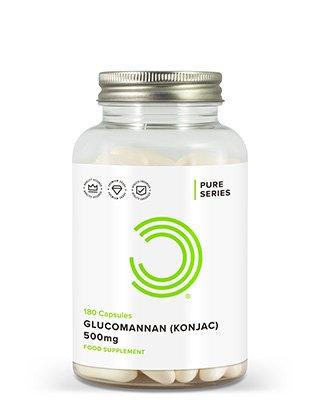 WAS SIND GLUCOMANNAN KAPSELN?Glucomannan (Konjak) ist eine Form von wasserlößlichen Ballaststoffen