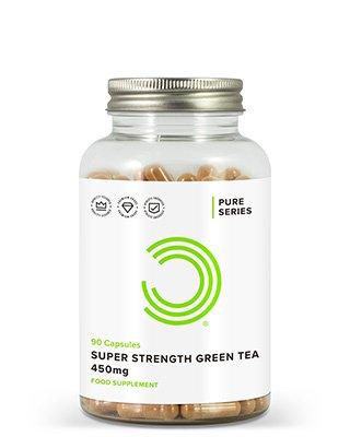 Jede Kapsel des extra starken Grünen Tees von BULK POWDERS™ ist vollgepackt mit 450 mg von reinemExtrakt aus Grünem Tee. Mit 95 % Polyphenol