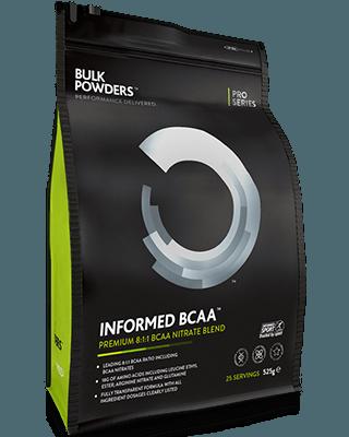 INFORMED BCAA™ weist unglaubliche18 g Aminosäuren pro Portion auf.INFORMED BCAA™ enthält BCAA-Nitrate (2 g) sowie drei verschiedene Formen von Leucin: Leucin-Nitrate (1