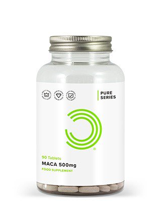 WAS SIND MACA TABLETTEN 500MG?BULK POWDERS® Maca Tabletten beinhalten ganze 50mg des 10:1 Maca Extraktes und bieten somit erstaunliche 500mg Maca pro Tablette.Der Maca Extrakt wird aus der Lepidium Meyenii Walp Wurzel gezogen. In Peru ist Maca ein beliebtes Kraut und ist dort seit jeher für seine positiven Eigenschaften bekannt. Maca wir oft auch als Peruanischer Ginseng bezeichnet.VORTEILE DER MACA TABLETTEN 500MGErstaunliche 500mg Maca pro TabletteUnterstützt