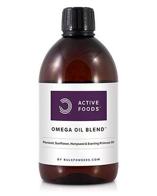 Unsere Omega-Ölmischung enthält essentielle Fettsäuren aus einer Kombination von Leinsamen-