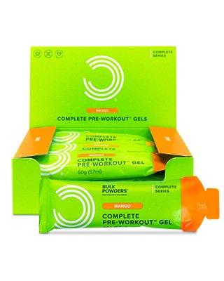 Die Complete Pre-Workout Gels zur Anwendung vor dem Training gibt es nur bei BULK POWDERS™. Sie sind bequem anzuwenden – tragen Sie sie in Ihrer Sporttasche mit sich oder verstauen Sie sie im Auto. Reißen Sie einfach ein Portionspaket auf