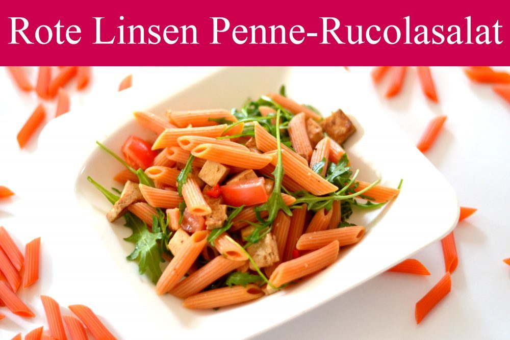 Rote Linsen-Penne