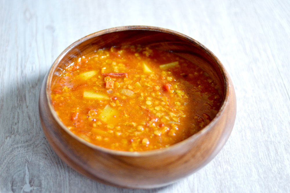 Read more about the article Rote Linsensuppe vegan & glutenfrei