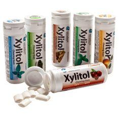6 Packungen Miradent Zahnpflegekaugummis mit 100 % Xylit / Xylitol -- von jeder Geschmacksrichtung eine: Cranberry