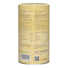 750 g weiße Schokodropsmit Süßungsmittel Xylitin einer Dose. Diese Schokoladentropfen überzeugen mit ihrem milchig-zarten Schmelz und einer feinen Vanille-Note.Ideal für leckere Kekse