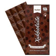 Vegane Edel-Zartbitterschokolade mit Kakaokeksund Süßungsmitteln (Xylit und Maltit) Versandgewicht: 0